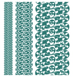 Set seampless pattern lace vector