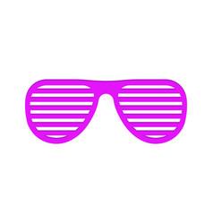 shutter glasses on white vector image