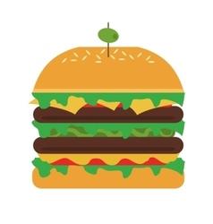 single hamburger icon vector image