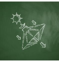 Solar sails icon vector