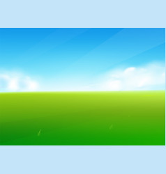 Spring field nature background with green grass vector