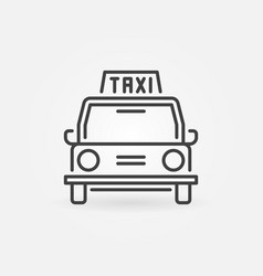 taxi retro car concept icon in thin line vector image