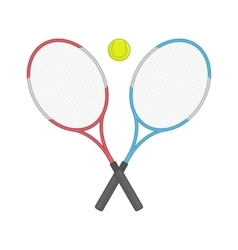 Two crossed tennis racket and ball vector image