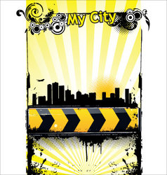 Urban banner vector