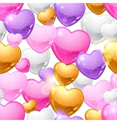 Valentines Day seamless pattern Eps 10 background vector image