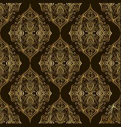 Vintage damask bohemian seamless pattern vector