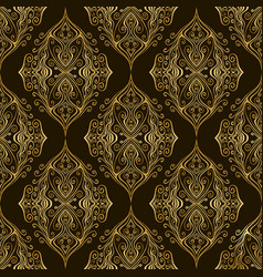 vintage damask bohemian seamless pattern with vector image