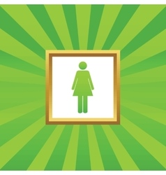 Woman picture icon vector image