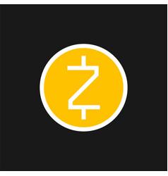 zcash icon vector image