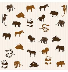 Animal seamless pattern 3 vector image vector image