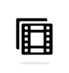 Films icon on white background vector image