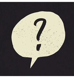 question grunge mark vector image