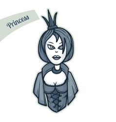 Sticker Princess vector image