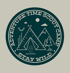 adventure time stay wild vector image vector image