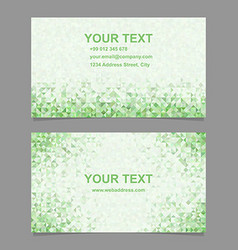 Color triangle mosaic business card template vector image