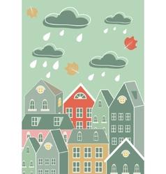 Rainy city vector