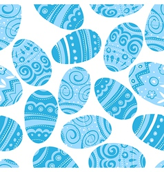 seamless easter blue pattern vector image vector image