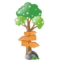 wooden signs on tree vector image