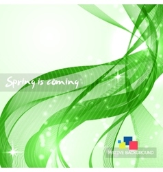 Abstract green curved lines vector image vector image