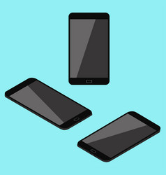 isometric cell phone vector image