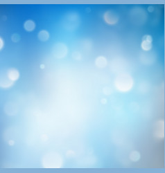 lights on blue background bokeh effect eps 10 vector image vector image
