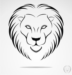 Lions Head Tribal vector image