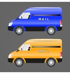 Postal vehicles vector image vector image