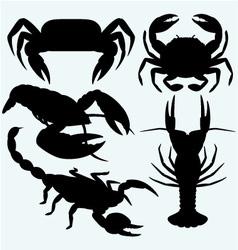 Set crustaceans vector image vector image