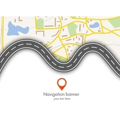 Abstract navigation banner vector image