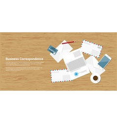 business correspondence vector image