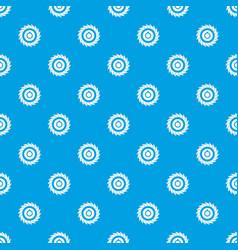 circular saw disk pattern seamless blue vector image vector image