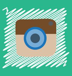 Flat web icon of modern lineart camera digital vector