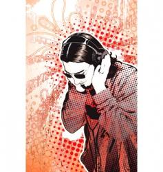 headphones guy vector image vector image