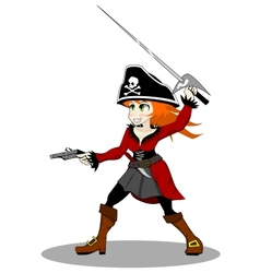 pirate woman vector image