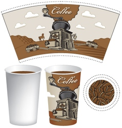 Plans for a cup vector image vector image
