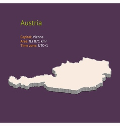 3d map of Austria vector image