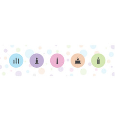 5 memorial icons vector