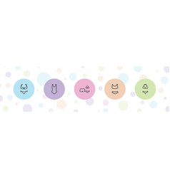 5 swimsuit icons vector