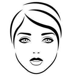 Abstract beautiful and sensual female face vector