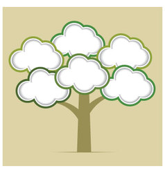 Abstract tree infographics elements vector image