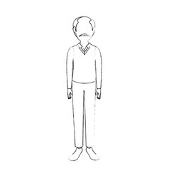 adult man avatar vector image