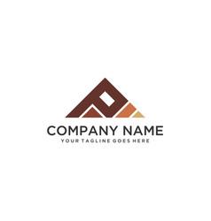 Ap triangle logo vector