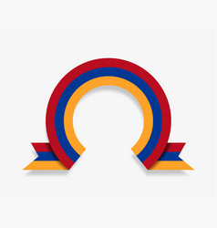 armenian flag rounded abstract background vector image