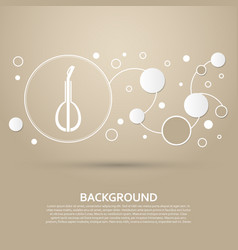 balalaika icon on a brown background with elegant vector image