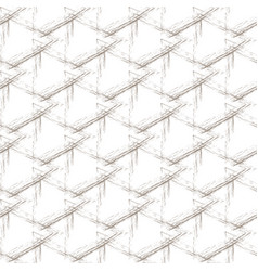 beige grunge grid on a white background vector image