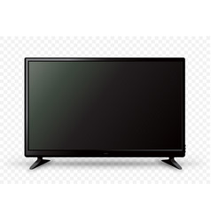 big tv on two holders vector image