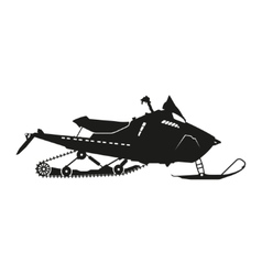 Black silhouette of a snowmobile vector image
