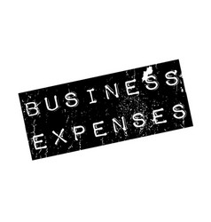 business expenses rubber stamp vector image