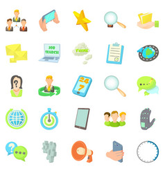 Buzz icons set cartoon style vector