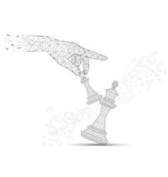 challenge concept polygonal art style vector image